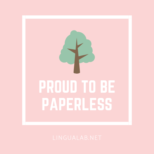 Proud to be paperless